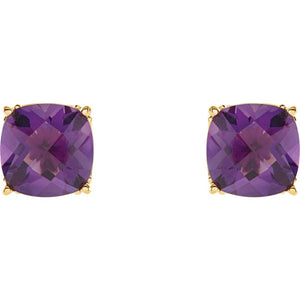 Genuine Amethyst Earrings