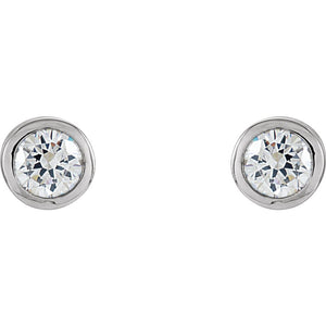 Gemstone Fashion, Earrings, Gemstone Earrings, Studs, 14K White