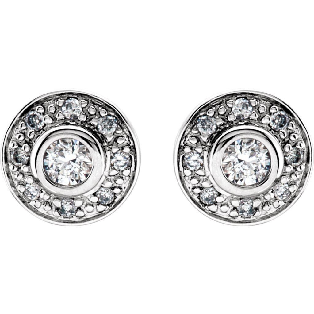 Diamond Fashion, Earrings, Diamond Earrings, Studs, 14K White