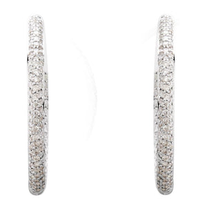 Diamond Fashion, Earrings, Diamond Earrings, Hoops, 18K White