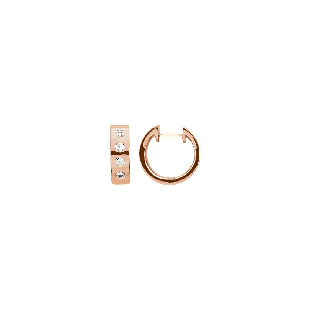Diamond Fashion, Earrings, Diamond Earrings, Hoops, 14K Rose Gold