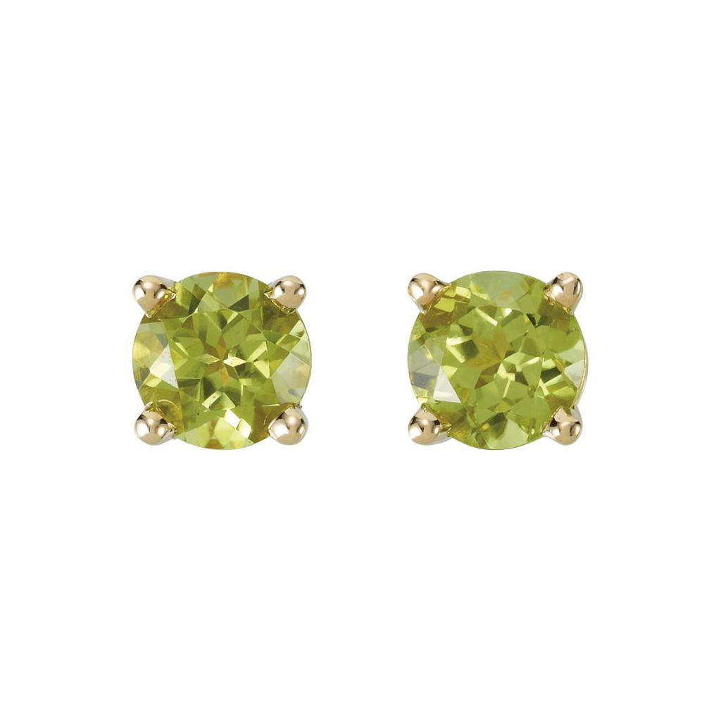 Gemstone Fashion, Earrings, Gemstone Earrings, Studs, 14K Yellow