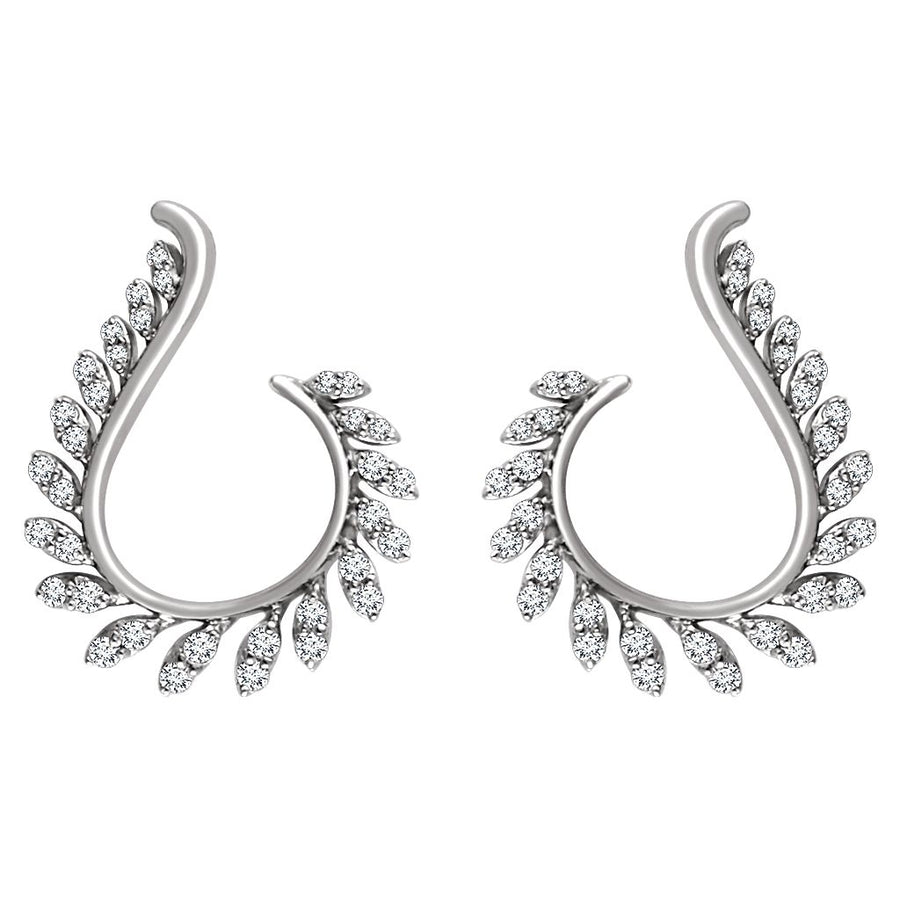 Diamond Fashion, Earrings, Diamond Earrings, Drops/Dangles, 14K White Gold