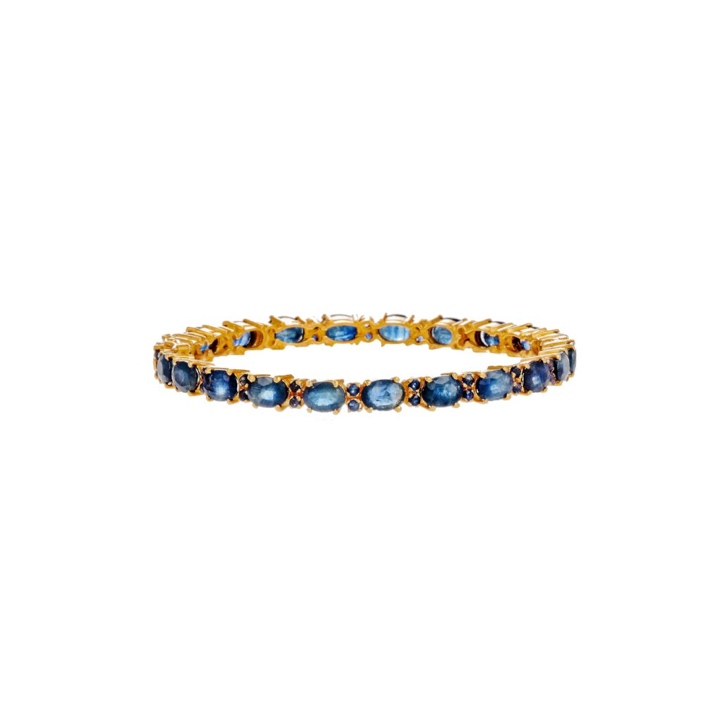 Sleek and Stylish Kara studded with Sapphire in 22k gold