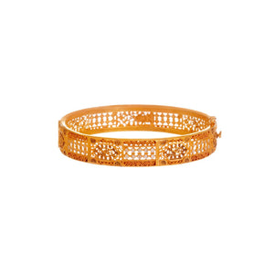 Mesh kara in 2-tone with Copper and Rhodium finishes made in 22k gold