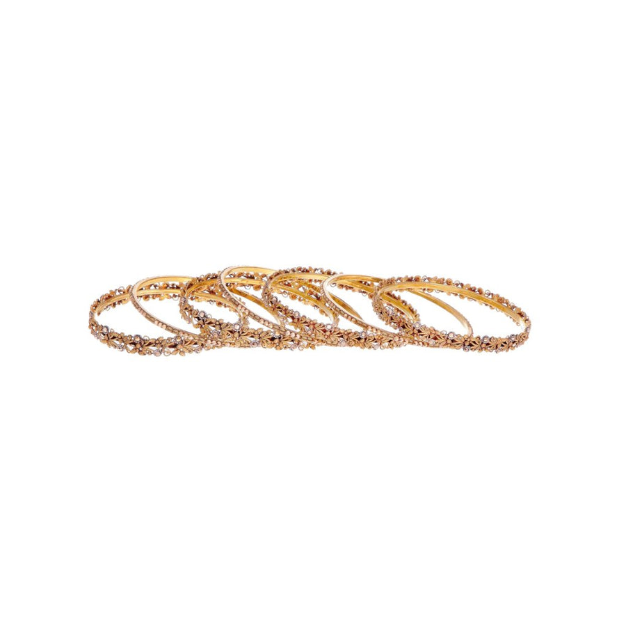 7-Piece Bangles Set in Antique Finish in 21k gold
