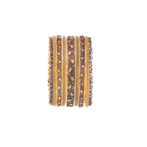 7-Piece Bangles set in Dark Polish in 22k gold
