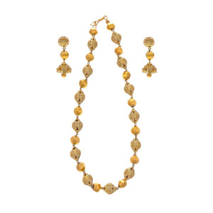 Gorgeous Mala skillfully crafted in 2-tone finish made in 22k gold