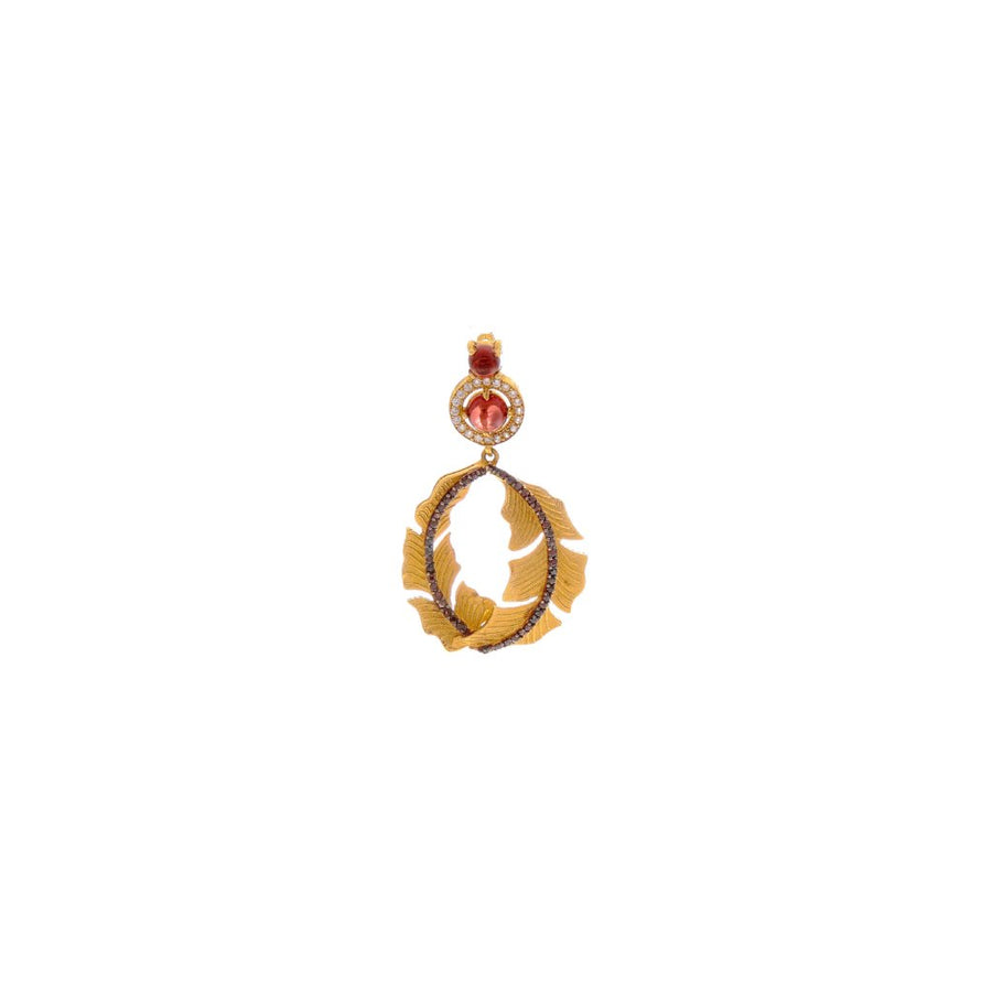Handcrafted Garnet Pendant Set in 22k gold