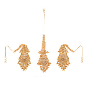 Classic earrings with sahara made in 22k gold