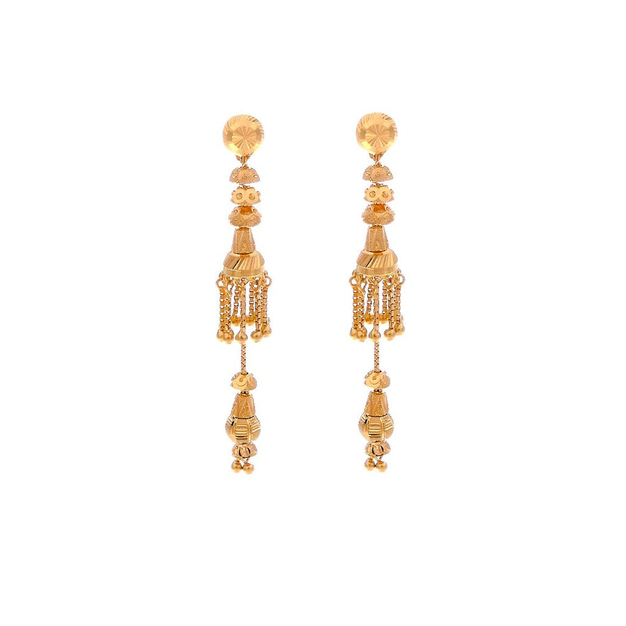 Traditional Detached Jhumka Earrings made in 22 karat gold