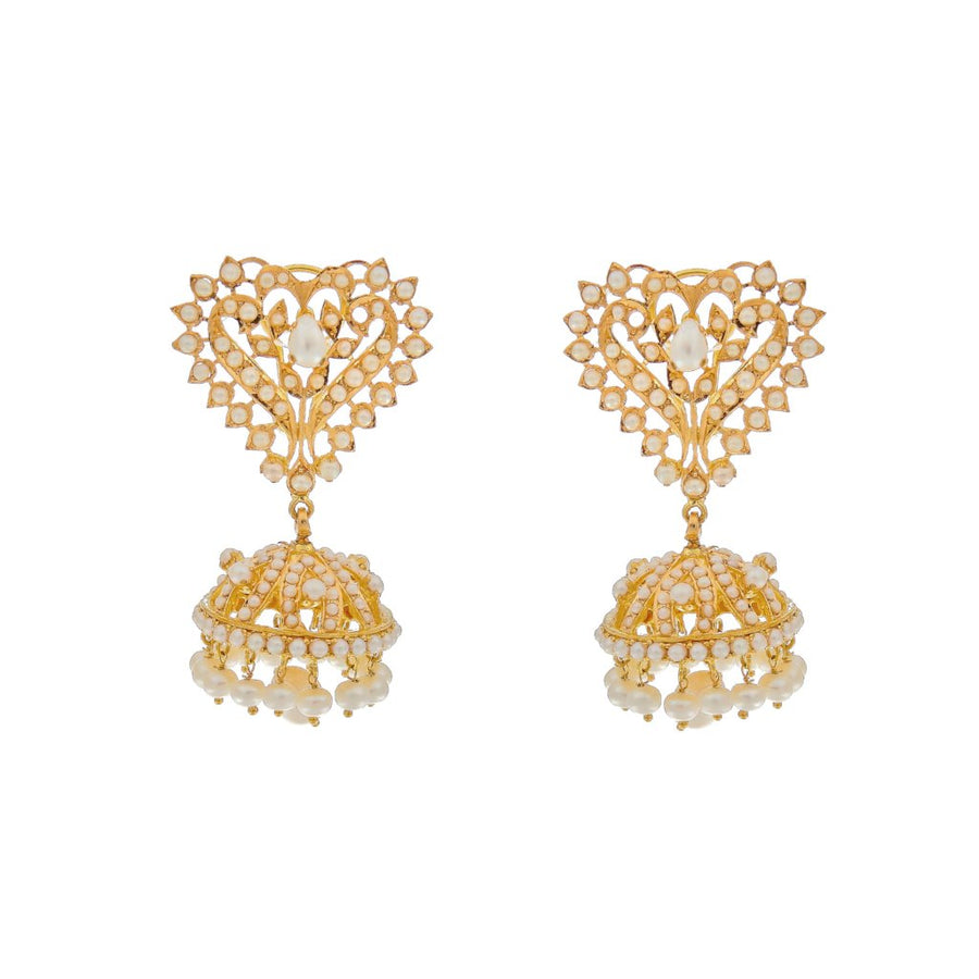 Timeless Basra Pearls Juhumkas made in 22k gold