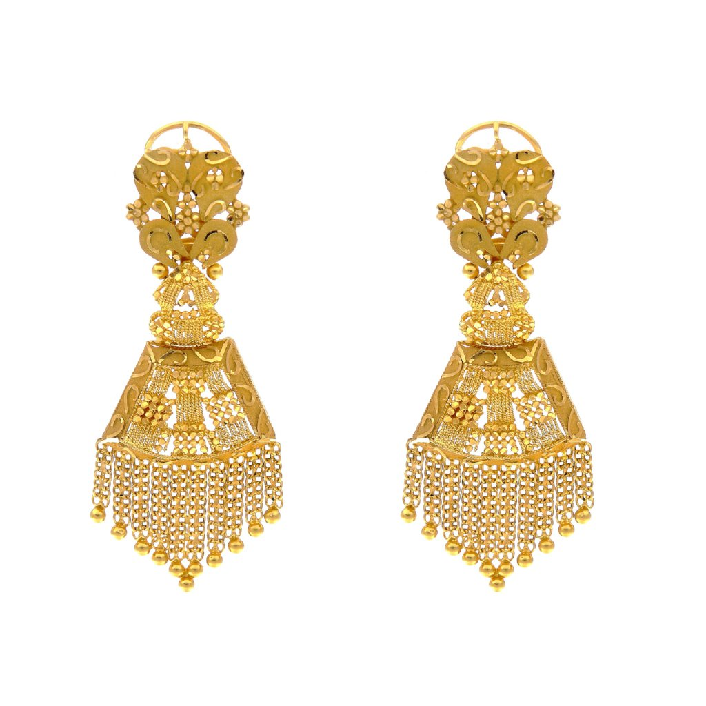 Classic earrings hand-crafted to a standard of perfection made in 22k gold