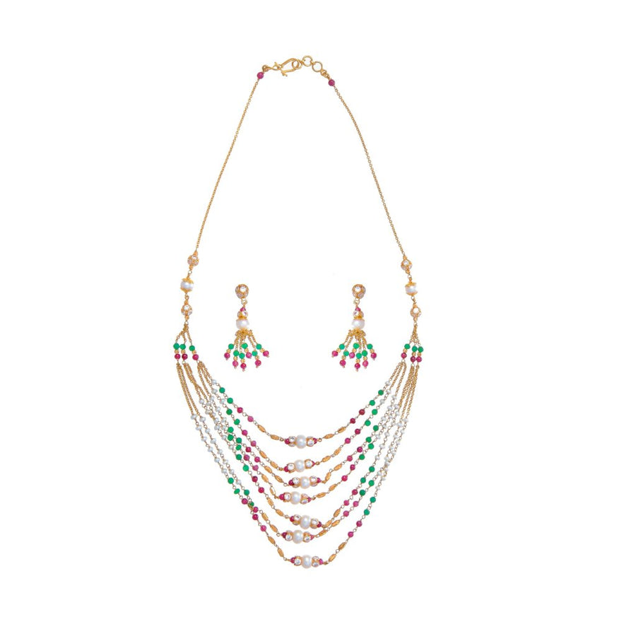 Emerald, Pearl, Ruby and CZ string set