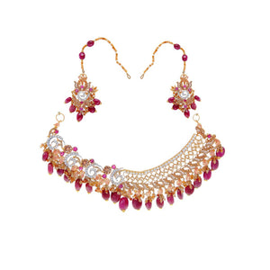 Contemporary Ruby and Citrine Bridal Set made in 22 karat gold