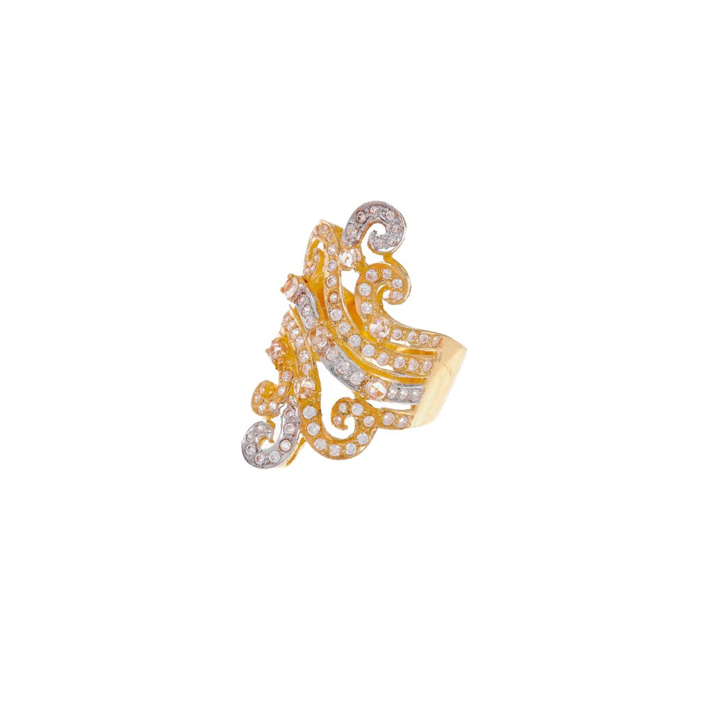 Designer ring studded with Cubic Zirconia