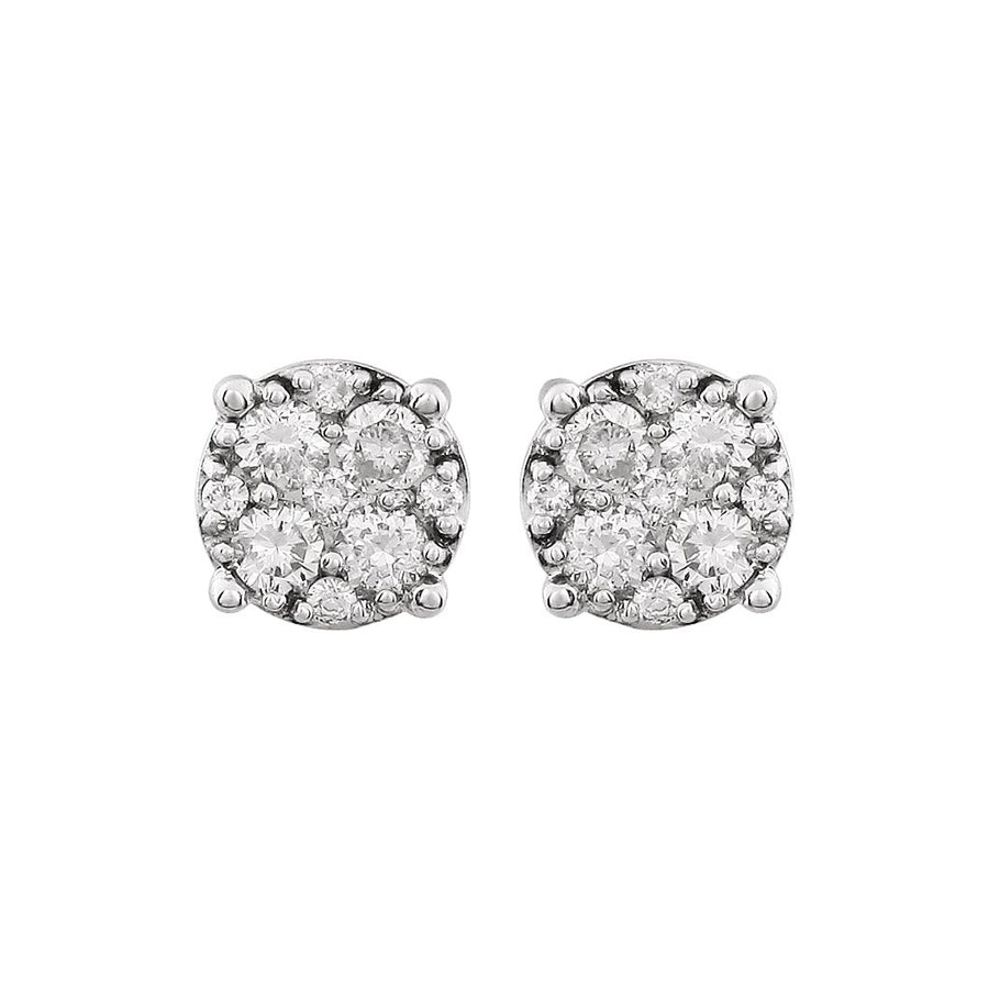 Diamond Fashion, Earrings, Diamond Earrings, Studs, 14K White Gold