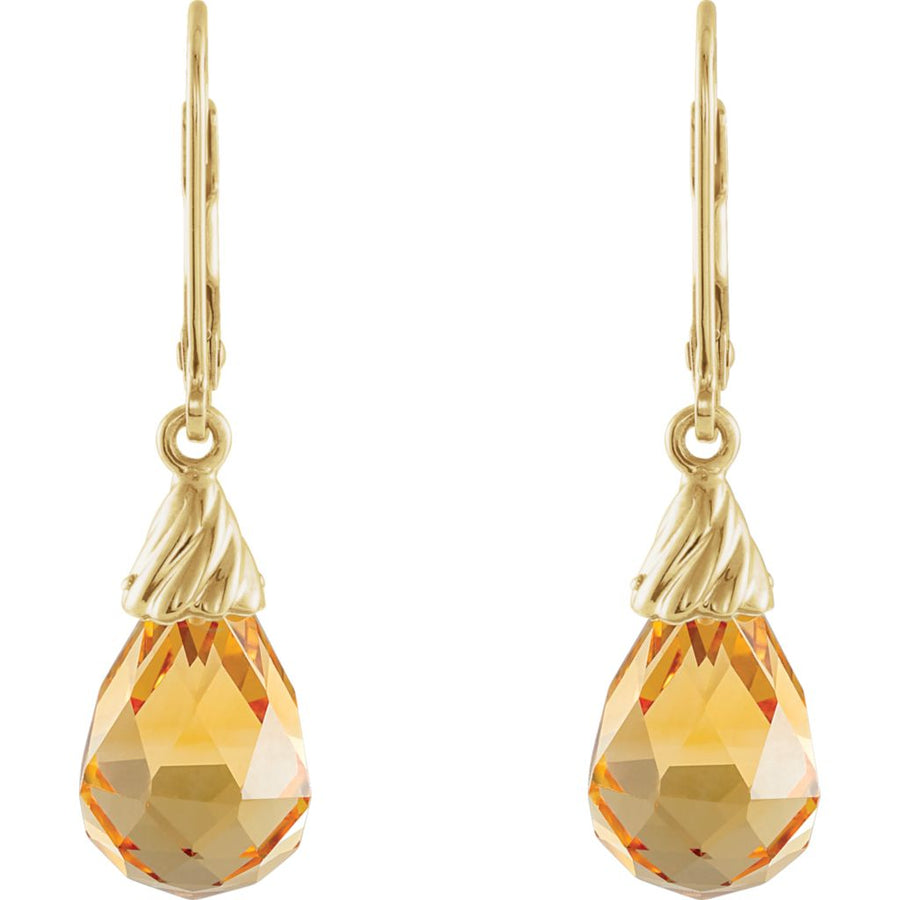Gemstone Fashion, Earrings, Gemstone Earrings, Drops/Dangles, 14K Yellow