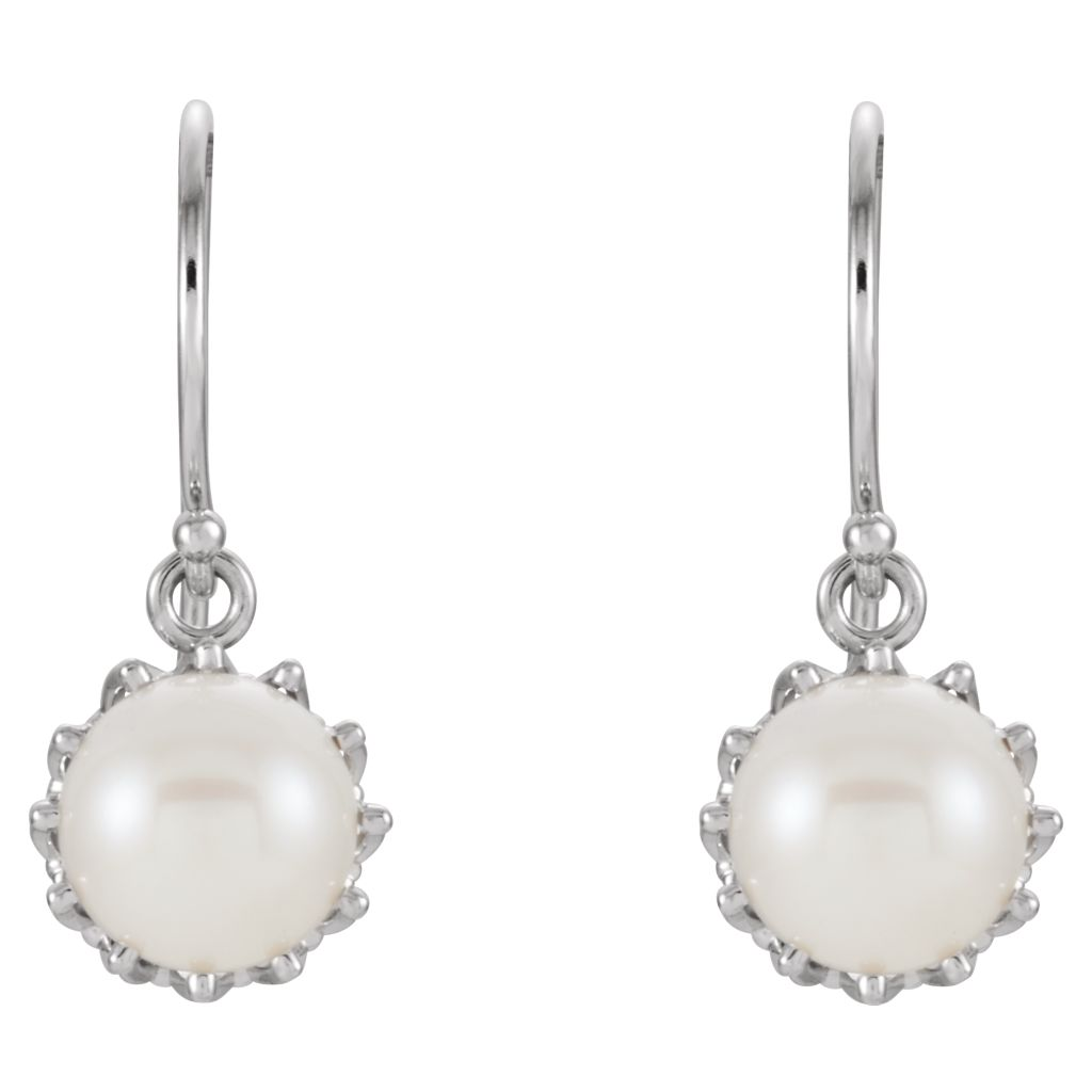 Gemstone Fashion, Earrings, Gemstone Earrings, Drops/Dangles, 14K White