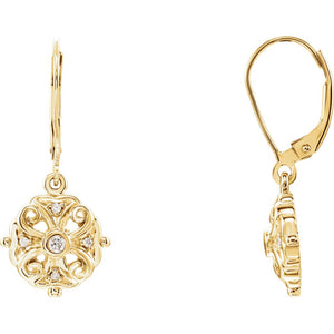 Diamond Fashion, Earrings, Diamond Earrings, Drops/Dangles, 14K Yellow