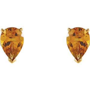 Genuine Citrine Pear Scroll Setting® Earring