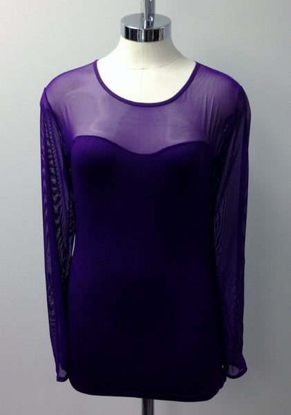 long sleeve mesh insert