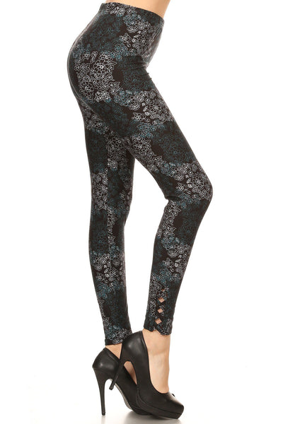 sueded black beauty ankle weave legging