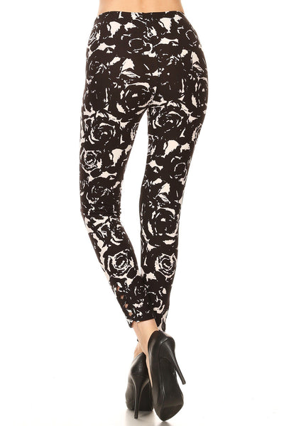 sueded baccara rose ankle weave legging