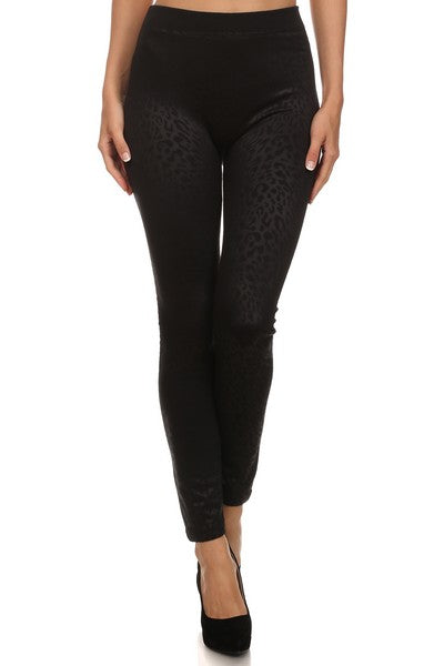 velvet footless legging