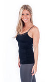 lace v-neck ruche cami
