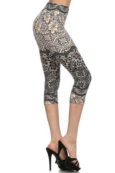 sueded new lace capri legging