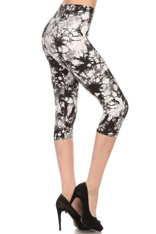sueded new tye dye capri legging