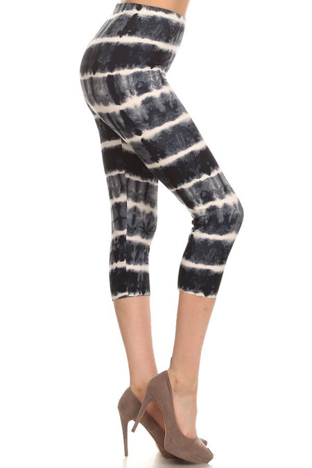 sueded high waist brooklynn blue tye dye legging