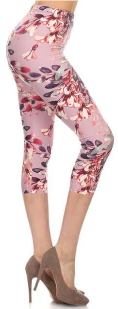 sueded lexi's garden capri legging