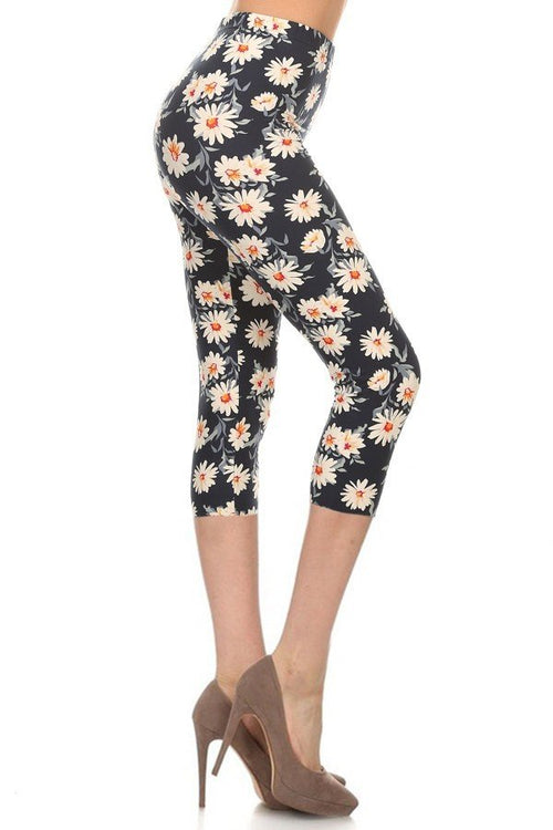 sueded wild flower capri legging