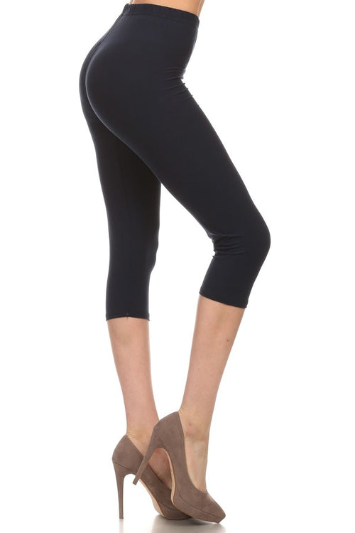sueded solid capri legging