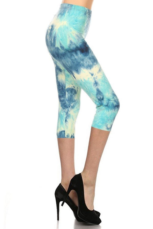 sueded skyy tye dye capri legging