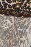 sueded brown cheetah legging