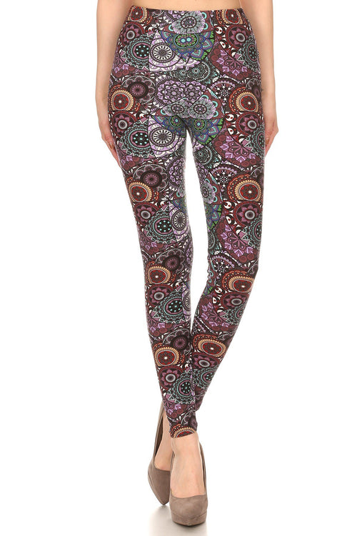 sueded mauve kaleidoscope legging