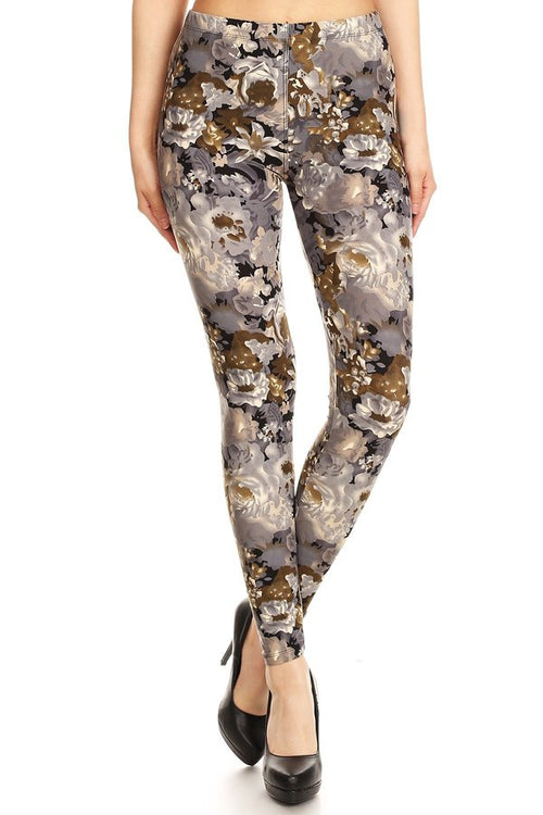 sueded new floral camo legging