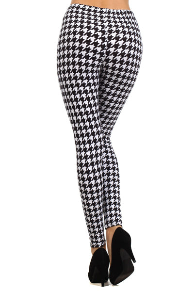 sueded houndstooth legging