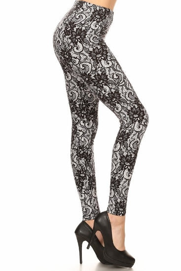sueded vintage lace legging