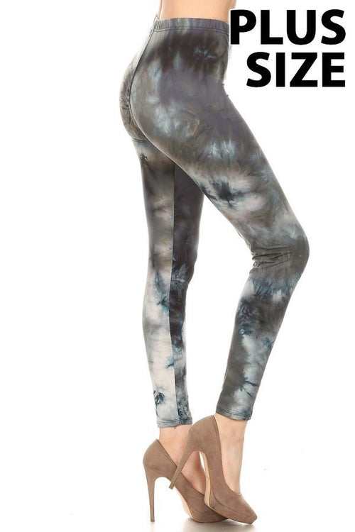 sueded deep sea tye dye legging plus