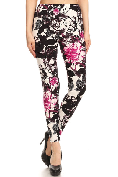 sueded floral trend legging