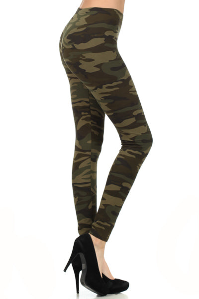 sueded camo legging