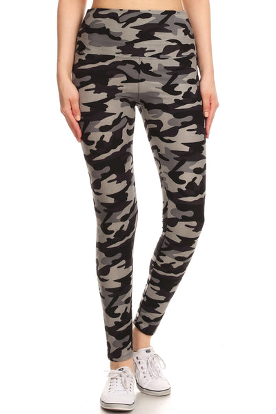 sueded high waist gray camo legging