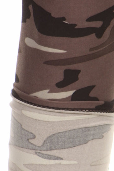 sueded grey camo legging