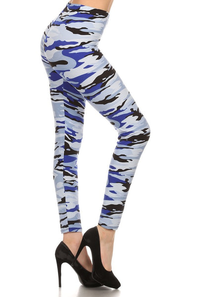 sueded ocean camo legging