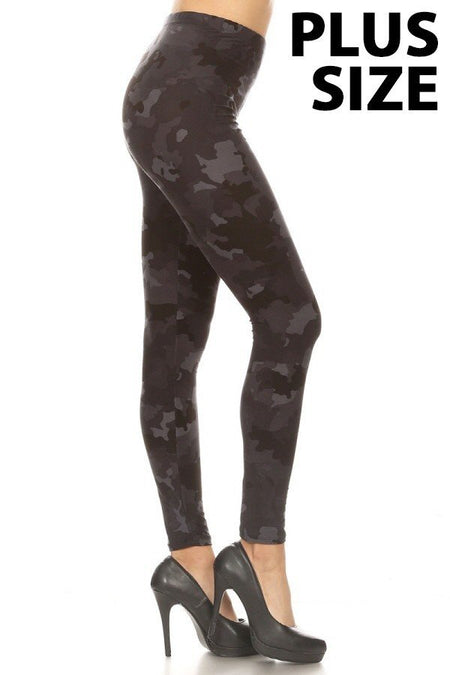 sueded high waist python legging