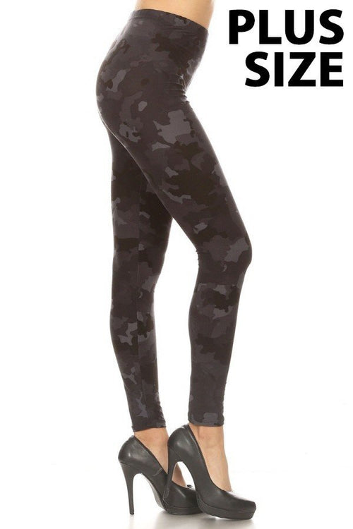 sueded combat camo legging plus